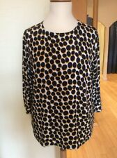 Betty Barclay Top Size 20 BNWT Navy Mustard White Spot RRP £80 Now £36