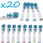 20 PCS Electric Tooth brush Heads Replacement Braun Oral B Vitality Dual Clean
