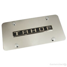 Chevy Tahoe Chrome Name On Polished Steel License Plate