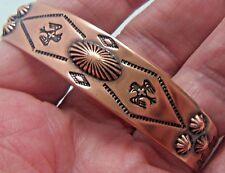 Copper Cuff Bracelet Wheeler Manufacturing Arthritis Healing Sciatica CB 077