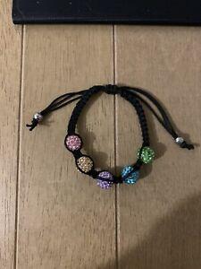 Shamballa Style Gold Crystal Bracelet. Small Size