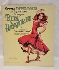 ORIGINAL PRINT Vintage 1948 Rita Hayworth CARMEN Paper Doll Book MINT UNCUT