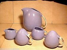 "Set Of 5 Vintage Hall Pottery ""Rose Parade"" Kitchenware"