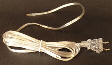 NEW 8' Clear Silver 18/2 Plastic Covered Lamp Cord Plug Set SPT-1,U.L., #CS713