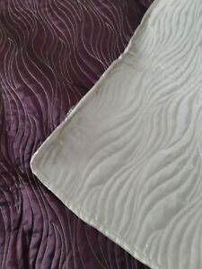 iLiv Quilted Bed Throw Purple/ Gold 200cm x 140cm