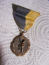 Vintage 1959 National Open Gymnastics Baton Twirling Medal Ribbon Pin Webster Ny
