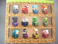 Minecraft Minecart Mini Figuras Serie 7-juego completo de 12-Sellado Sin Abrir