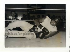 Muhammad Ali during a training bout, Original-vintage Photo from 1966