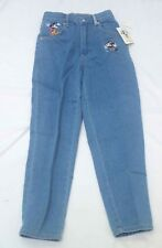 Disney Mickey & Co girls blue Jeans. Size 12. Embroidered. Vintage 90's. New.
