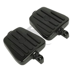 Black Male Mount Footboards Foot Boards Pegs For Harley Dyna Softail Sportster