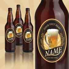 """12 Custom Beer Labels """"Barley Rays"""" Stickers Personalized Bottle decals vinyl"""