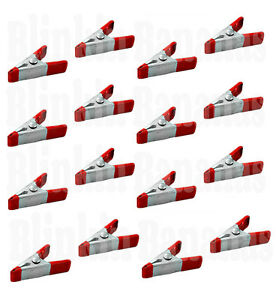 16 RED MINI CLIPS SMALL METAL SPRING CLAMP GRIP TARP SET MODEL CRAFT MAKING HOLD