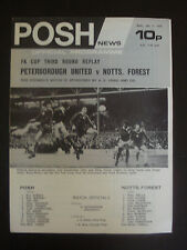 Peterborough United v Nottingham Forest 1975/6 FA Cup 3rd Round Replay Programme