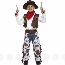 Boys Kids Cowboy Outfit Fancy Dress Costume Rodeo Wild West Age 3 4 5 6 7 8 9 10 Small
