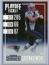 ROB GRONKOWSKI  2016 Contenders Playoff Ticket SP /249 Verzamelingen New England Patriots SP