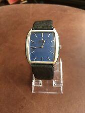 1970 Bulova Accutron Tuning Fork Watch, Square Deep Blue Dial, Runs/Repair.