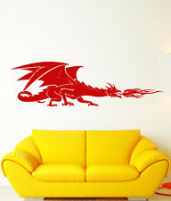 Vinyl Wall Decal Fire-Breathing Dragon Fantasy Fairy Tale Stickers (1760ig)