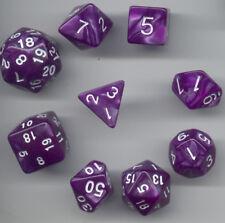 NEW Special RPG Dice 9pc - Pearl Purple - standard set plus D24 & D30