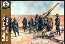 Waterloo 1815 Miniatures 1/72 ITALIAN WWII HEAVY GUN WITH CREW Figure Set