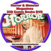 Monster Horror Magazine Thriller Science Fiction Pulp Fiction Scary PDF DVD