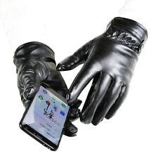 KM_ Winter Warm Motor Motocross MTB Bike Cycling Faux Leather Pad Full Finger Gl
