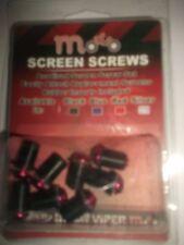 8  PCS M5 5mm Motorcycle Windscreen Screws Bolt Kit Windshield  RED UK
