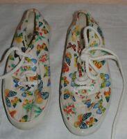 Leichte Kinderschuhe Stoffschuhe mit bunten Schmetterlingen Gr. 30