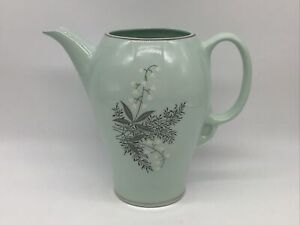 Lady Empire 4 Cup Coffee Tea Pot Permacal Lily of the Valley Soft Green NO LID