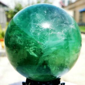 6.53LB Natural Green Fluorite Ball Quartz Crystal Healing Sphere Reiki Stonec