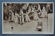 R&L Postcard: Queen Elizabeth II Coronation Westminster Abbey, Photochrom