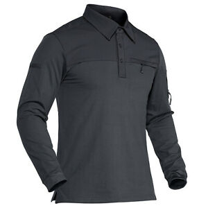 Men's Tactical Shirts Long Sleeve Military Army Combat Outdoor Sport Polo Shirts