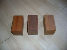 Three small Wooden Hardwood Boxes with Sliding Lids