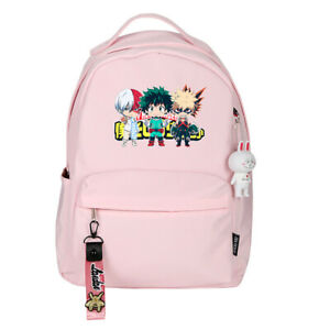 My Hero Academia Backpack Midoriya Izuku Schoolbag Students Unisex Travel Bag