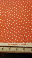 Moda Fabrics ABC Menagerie by Abi Hall 39525-16 Orange with White Dots