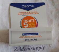 CLEARASIL STUBBORN ACNE CONTROL 5 IN 1 SPOT TREAT CREAM 1 OZ EXP 09/20