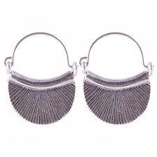 Karen Hill tribe Handmade Earrings Silver Thai