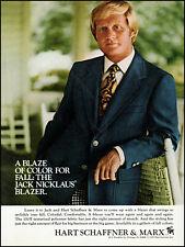 1975 Jack Nicklaus golf Hart Schaffner & Marx Blazer retro photo print ad ads74