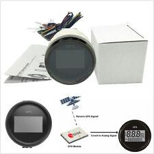 Universal 52mm Black Bezel GPS Speedometer 0-999 Knot 7-Color Backlight MPH KMH