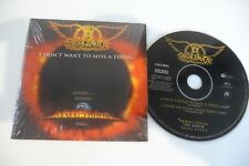 AEROSMITH CD CARDSLEEVE IN SHRINK . I DON'T WANT TO MISS A THING .ARMAGEDDON.