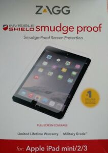 NEW ZAGG InvisibleShield Smudge-Proof Screen Protector for iPad mini 2 / 3