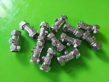 12x 15mm PLUMBING ISOLATING VALVE NP BRASS FITTINGS