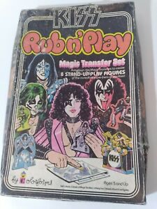 Kiss Aucoin Rub n Play Colorforms- Simmons, Frehley, Stanley, Criss Set + Extras