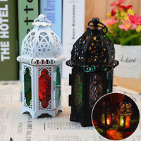 Retro Moroccan Lantern Tea Light Lamp Pray Candle Holder Box Hanging Home Party