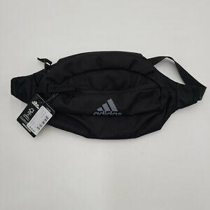 NEW adidas Rand II Waist Pack Black/Gray Adjustable Strap Fanny Pack