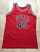 VTG RARE NBA Chicago Bulls Michael Jordan #45 Champion Jersey Youth Size L