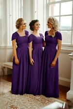 2020 Chiffon Bridesmaid Dresses Wedding Maxi Long Formal Party Prom Evening Gown