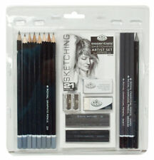 21 Piece Graphite Pencil Sketching & Charcoal Drawing Sticks Artist Set RART200