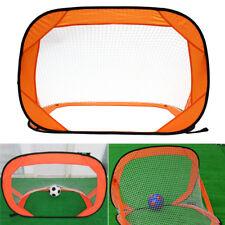 2 Set Pop Up Football Soccer Goals Net Kids Portable Mini Foldable Training Gate