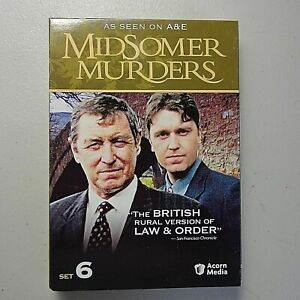MIDSOMER MURDERS DVD Box Set 6 A & E British Mystery 3 Disc