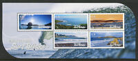 New Zealand NZ 2017 MNH Surf Breaks Surfing 5v M/S Beaches Landscapes Stamps